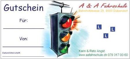 Gutschein A&A Fahrschule